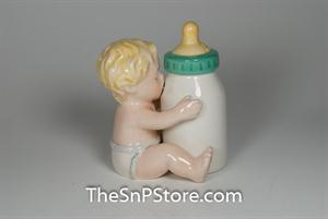 Baby and Bottle Salt & Pepper Shakers - Magnetic