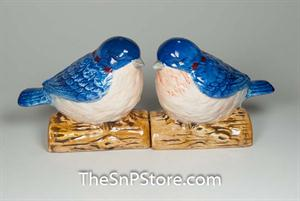 Blue Birds Salt & Pepper Shakers - Magnetic