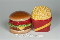 Burger & Fries Salt & Pepper Shakers - Magnetic