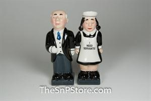 Butler and Maid Salt & Pepper Shakers - Magnetic