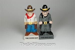 Bad Guy Good Guy Salt & Pepper Shakers