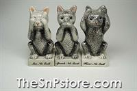 No Evil Kitties Salt & Pepper Shakers