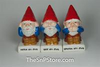 No Evil Gnomes Salt & Pepper Shakers