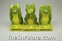 No Evil Froggy Salt & Pepper Shakers