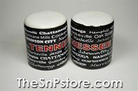 Black Tennessee Salt  & Pepper Shakers