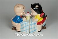 Porky Pig And Petunia Salt & Pepper Shakers - Magnetic