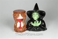 Wicked Witch & Hour Glass Salt & Pepper Shakers - Magnetic