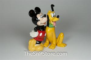 Mickey & Pluto Bff Salt & Pepper Shakers - Magnetic