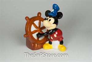 Steamboat Willie Salt & Pepper Shakers - Magnetic