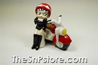 Betty And Motorcycle Salt & Pepper Shakers