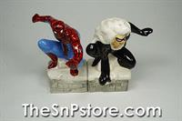 Spider-Man & Black Cat Salt & Pepper Shakers