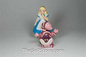 Alice And Cheshire Cat Salt & Pepper Shakers