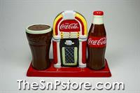 Coca Cola Jukebox S&P Shakers with Toothpick Holder