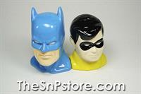 Batman and Robin Heads Salt  & Pepper Shakers
