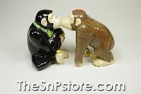 Chimp Kiss Salt & Pepper Shakers