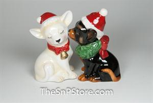 Holiday Chihuahuas Salt & Pepper Shakers - Magnetic