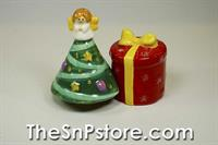 Christmas Tree & Present Salt & Pepper Shakers