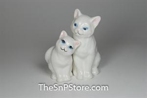 White Kittens Salt & Pepper Shakers - Magnetic