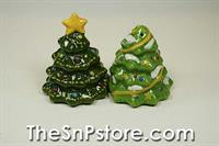 Christmas Trees Salt & Pepper Shakers
