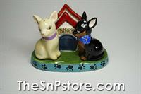 Chihuahuas Salt & Pepper And Toothpick Holder Set
