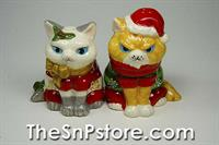 Christmas Cats Salt  & Pepper Shakers