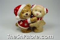 Christmas Teddy Bears S&P Shakers