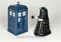 Dr. Who - Tardis vs Dalek Salt & Pepper Shakers