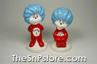 Dr Seuss Thing 1 and 2 Salt  & Pepper Shakers