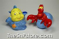 Flounder & Sebastian Little Mermaid  Salt  & Pepper Shakers