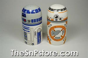 BB8 & R2D2 Star Wars  Salt  & Pepper Shakers