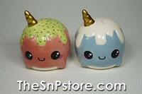 Narwhal Salt  & Pepper Shakers