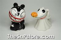 Zero and Scary Nightmare Before Christmas  Salt  & Pepper Shakers