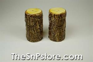 Tree Trunk Salt  & Pepper Shakers
