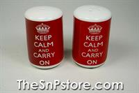 Keep Calm & Carry On Salt  & Pepper Shakers