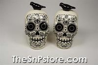 Sugar Skull Salt  & Pepper Shakers