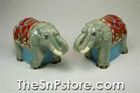 Fancy Elephants Salt  & Pepper Shakers