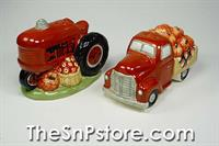 Truck and Tractor Harvest Bounty Salt  & Pepper Shakers