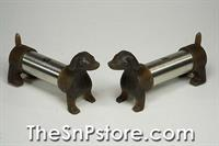 Dachshund Steel Salt  & Pepper Shakers