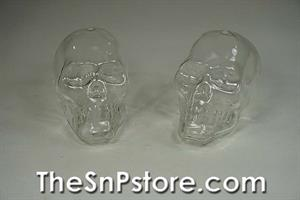 Glass Skulls Salt  & Pepper Shakers