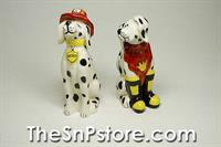 Fireman Dog Salt  & Pepper Shakers