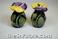 Pansy Salt  & Pepper Shakers