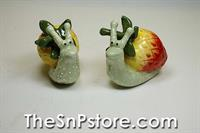 Strawberry Snail Salt  & Pepper Shakers