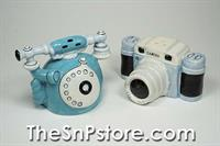 Telephone and Camera Salt  & Pepper Shakers