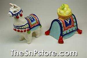 Lemon Llama Salt  & Pepper Shakers