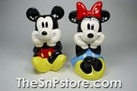 Mickey and Minnie Sitting Salt  & Pepper Shakers