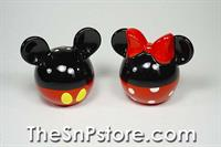 Mickey and Minnie Heads  Salt  & Pepper Shakers