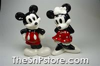 Mickey and Minnie Salt  & Pepper Shakers