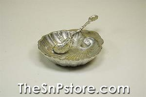 Large Shell Pewter Salt Cellar