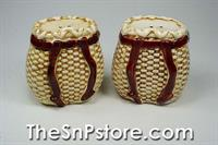 Pack Basket Salt  & Pepper Shakers