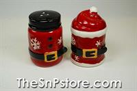 Santa Belt Salt  & Pepper Shakers